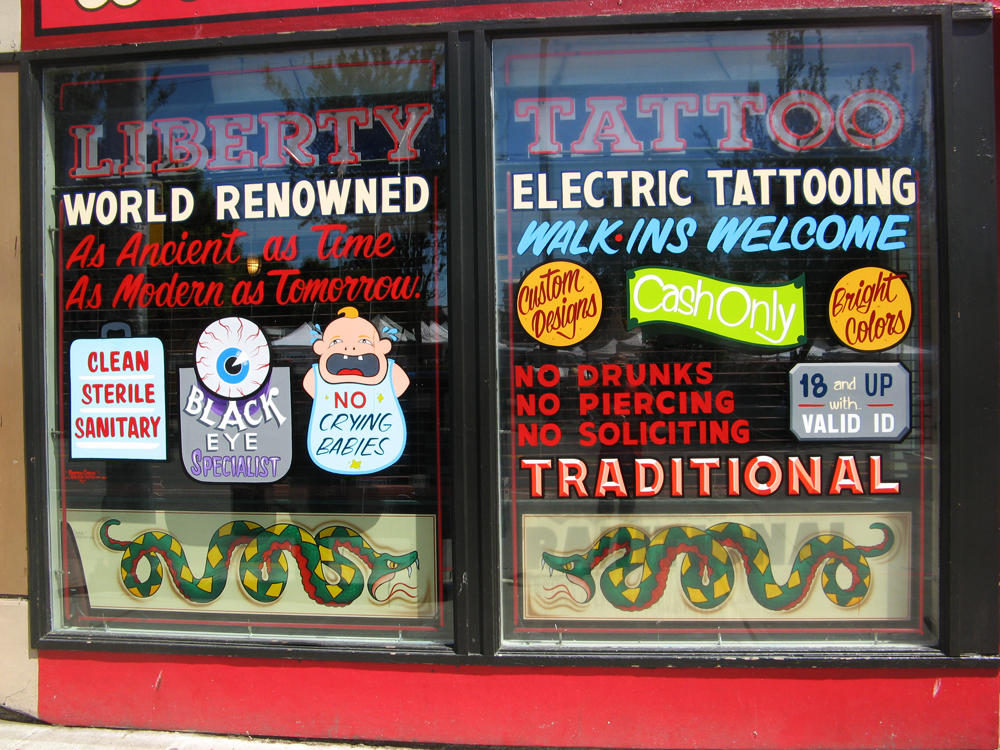 Liberty Tattoo in Seattle. Posted on November 19, 2010 by Cool Hand Cameo|